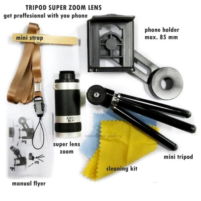 harga Telescope mobile phone / telezoom 8x + tripod Tokopedia.com