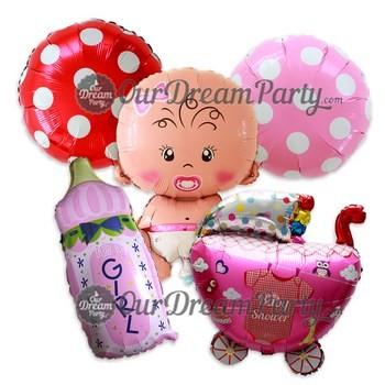 harga Paket baby shower cewe- balon bayi botol susu polkadot etc Tokopedia.com