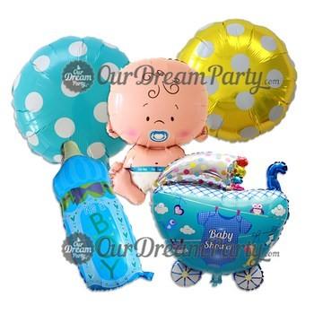 harga Paket baby shower cowo-balon bayi botol susu keranjang bayietc Tokopedia.com