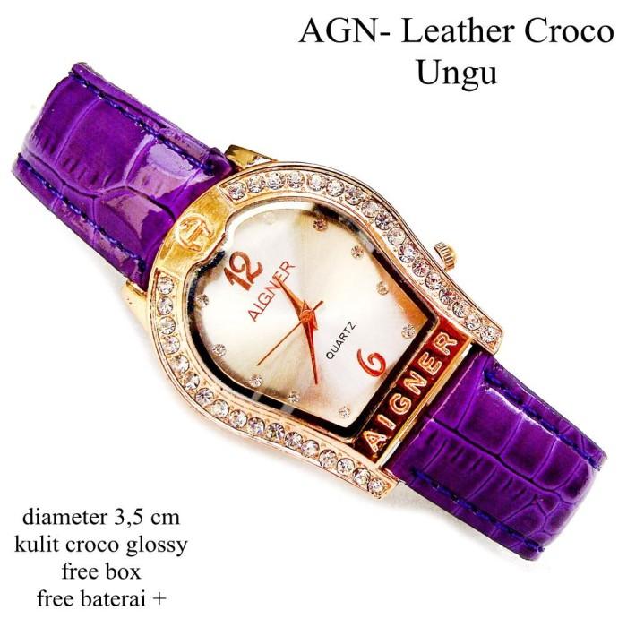 harga Jam tangan kulit agn croco glossy super ungu full set Tokopedia.com