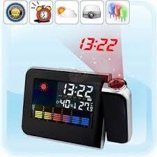 harga Weather projection clock - menampilkan jam dan suhu / cuaca di dinding Tokopedia.com