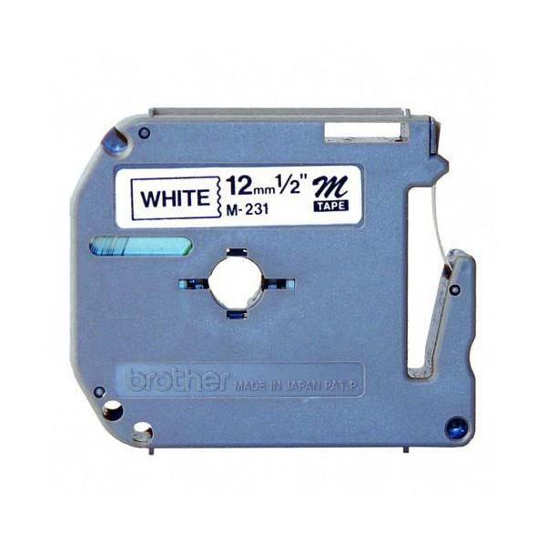 harga Brother label tape mk-231 12mmx8m black on white mk231 m-k231 Tokopedia.com