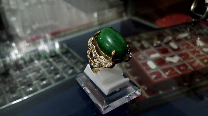 harga Cincin batu akik wanita - cincin batu topas hijau titanium Tokopedia.com