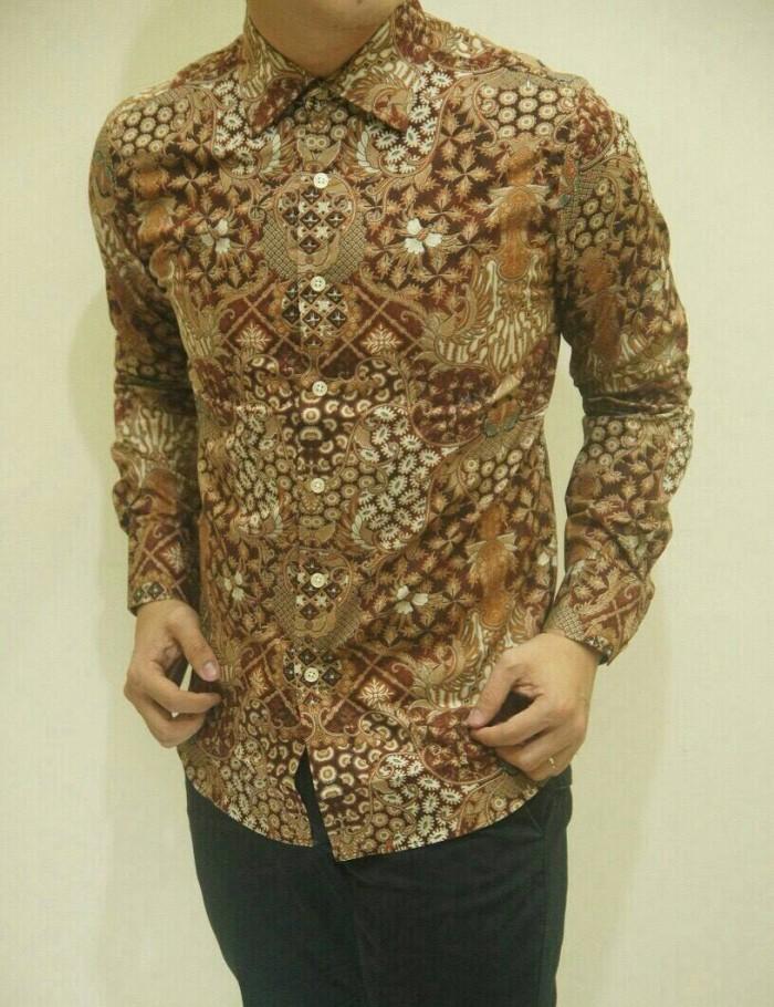 Jual Baju Batik Modern Lengan Panjang Slimfit Murah Grosir