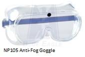 Anti  fog goggle np105safety goggle anti fog