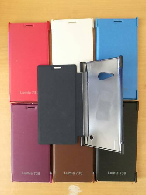 Flipcover nokia lumia 730 ( hardcase case casing )