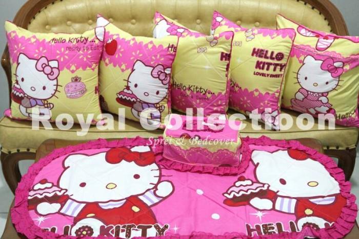 harga Set sbk (sarung bantal kursi)/ sofaset/ homeset hellokitty sweety pink Tokopedia.com