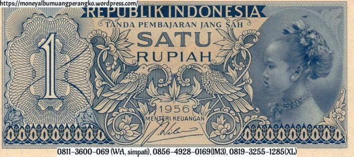 Jual Barang Antik Uang Kuno Indonesia 1 Rupiah Tahun 1956 Gadis