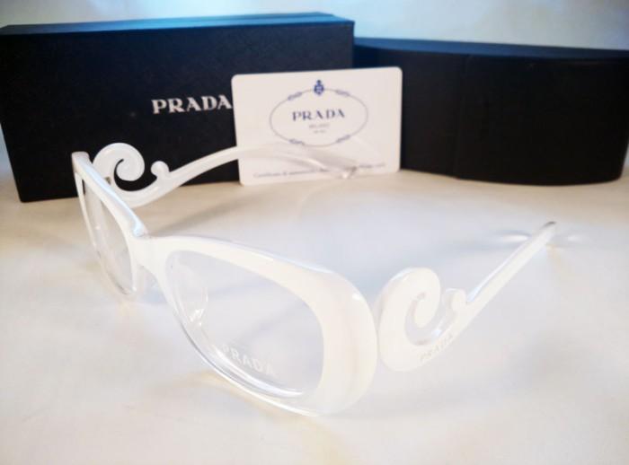 Jual Frame Kacamata Wanita   Cewe Prada Keong Coklat Putih ... 29321c3ff0