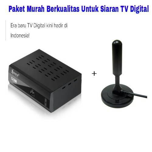 harga Paket siaran tv digital (set top box tv digital + antenna digital) Tokopedia.com