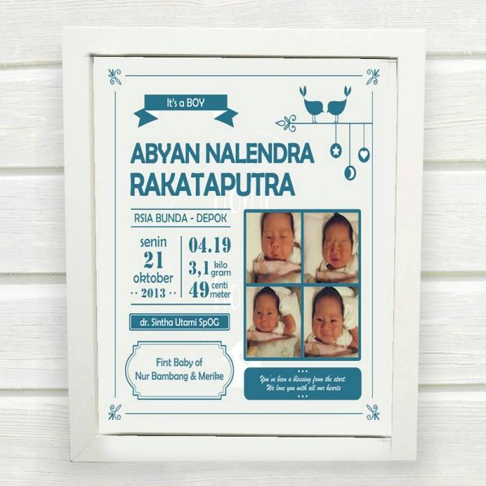 Jual Baby Biodata Frame Laki Laki Uk 30x30 Kota Depok Glover