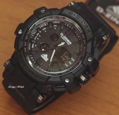 Jam Tangan D Ziner DZ 8090 Black OriginaL .