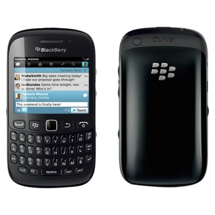 Blackberry 9220 Davis - Hitam .