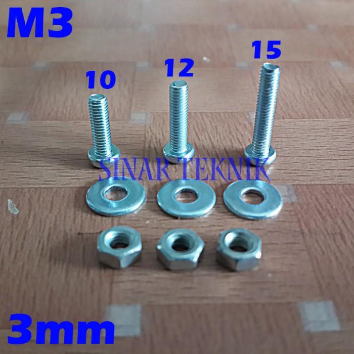 Foto Produk x30 Set Baut Mur Ring M3 dari SinarTeknik