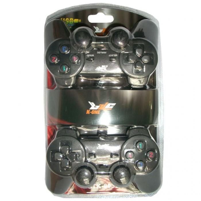 K-One Gamepad Double Getar - Hitam