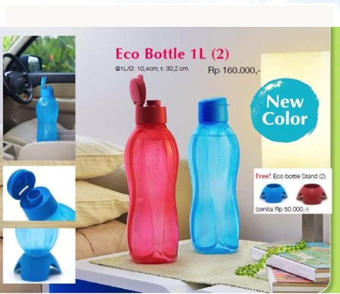 Tupperware Eco Bottle 1 L Warna Baru 1 Set Isi 2 Pcs