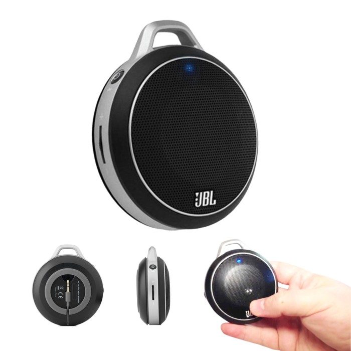 Jbl Micro Wireless Black Speaker Hitam