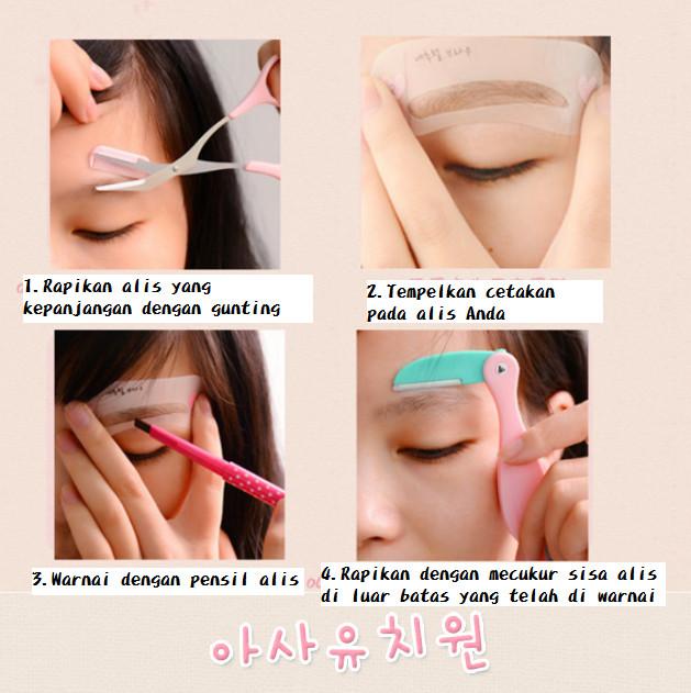 cetakan alis eye brow class 1set isi 3pcs 2. Source · Gunting alis mini brow
