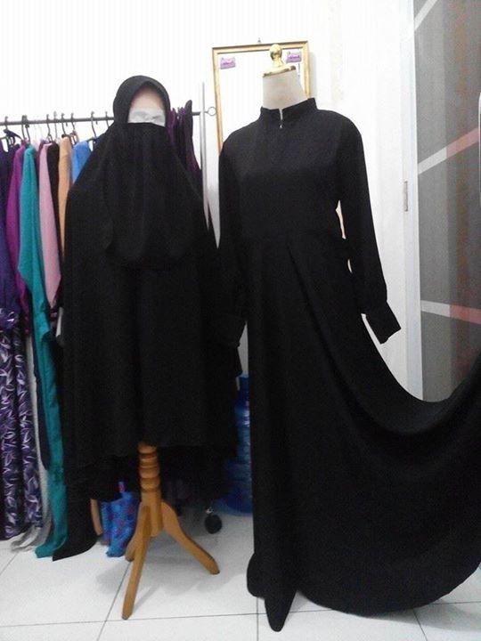 Jual Umbrella Hitam Jetblack Gamis Jilbab Cadar Hijab Sunnah