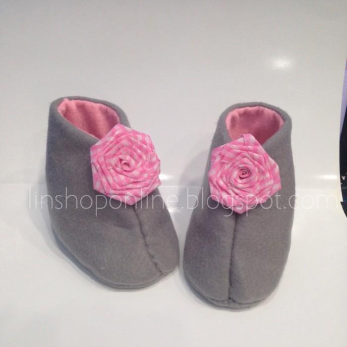 harga Sepatu bayi / eiffel grey-pink mawar 2 Tokopedia.com