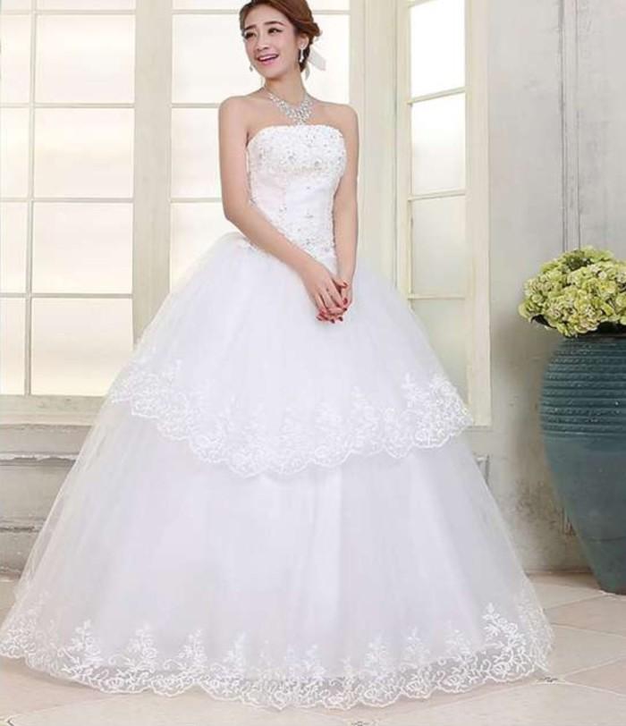 Jual Wedding Dress Gaun Pengantin Bra Q Tali Renda Korea 2015