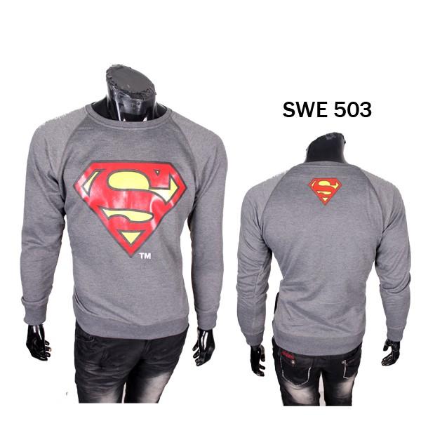 Sweater Superman Pria / Atasan Sweater Superhero - SWE 503