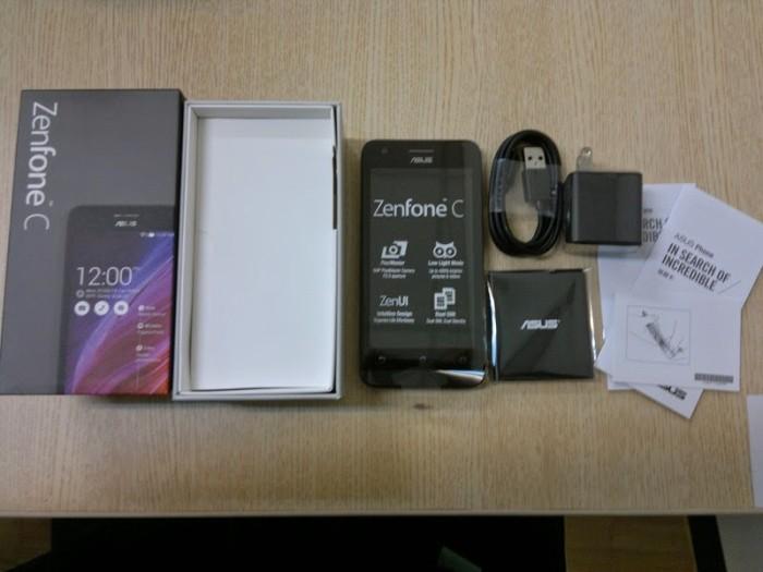 Asus Zenfone 4c 1GB 8GB Hitam Putih