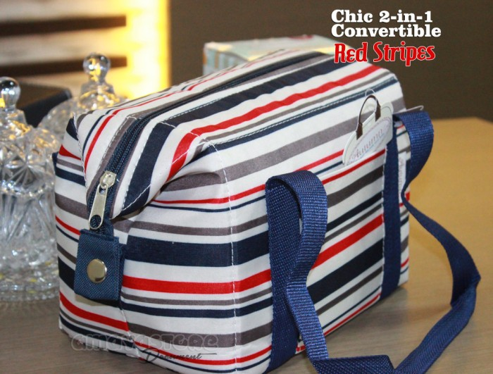 d7c587fa37 Jual Autumnz Chic 2-in-1 Convertible Cooler Bag - Red Stripes ...