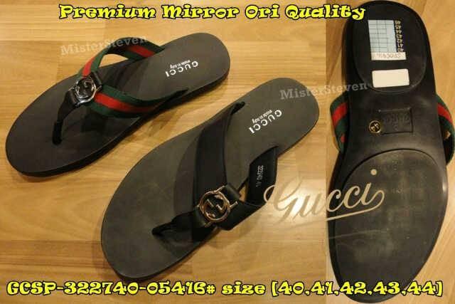a88c8435b68 Jual Sandal GUCCI GCSP-322740-05416  Premium Mirror Ori Quality ...