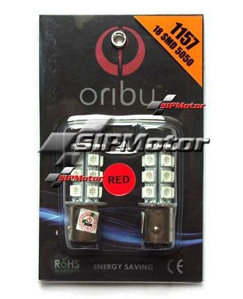 Foto Produk LED Rem 2 Kaki 1157 18 Titik Merah Oribu Chip Epistar dari SIPMotor
