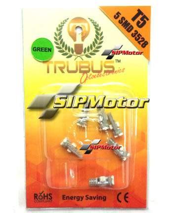 Foto Produk LED T5 5 Titik Hijau Trubus Chip Epistar (Speedometer/Panel AC) dari SIPMotor