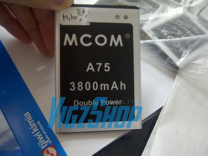Baterai battery batre mito a75 fantasy 2 3800mah mcom double power