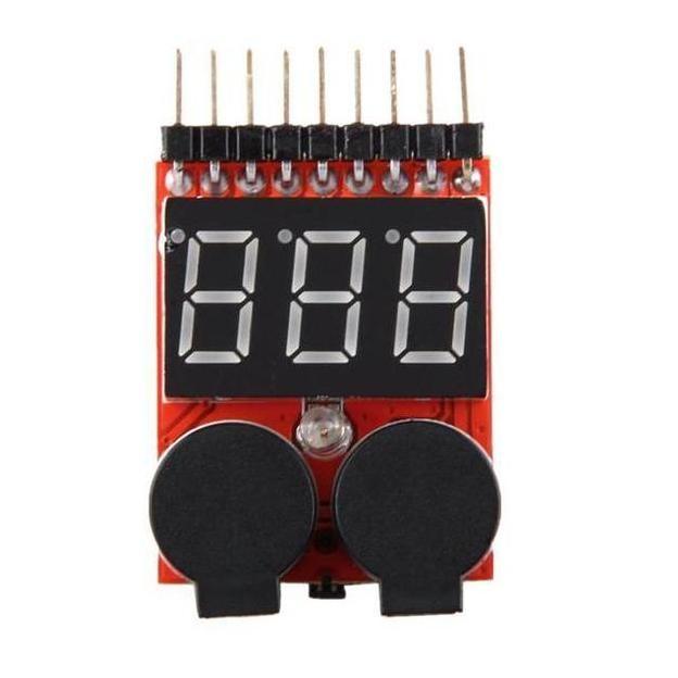 harga 1-8s lipo battery accu tester low voltage buzzer alarm indicator rc Tokopedia.com
