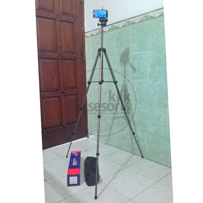 Tripod + Holder U Bisa Buat Hp, Bisa Camdig / Handycam / DSLR - Holder U Big