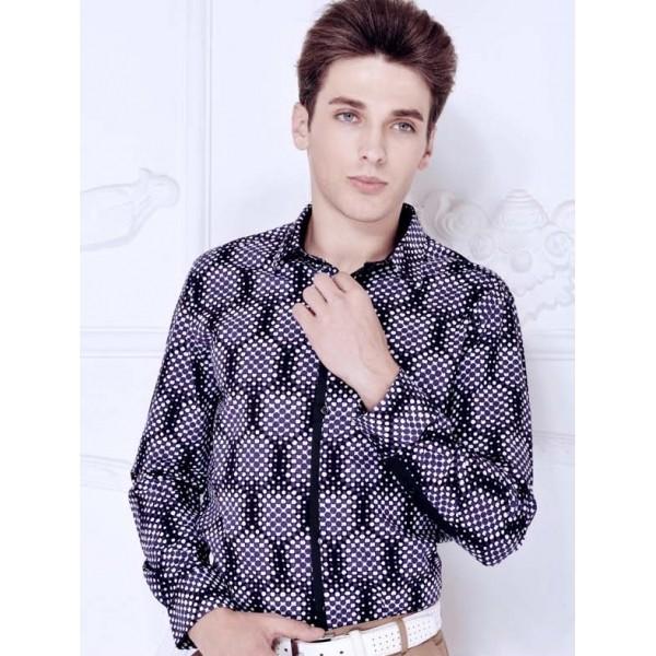Kemeja kerja polkadot pria kp091 import. Fashion : Pakaian ...