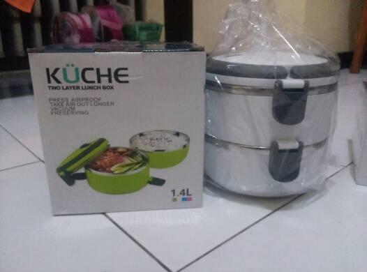 Jual Kuche Lunch Box Stainless Steel 1 4l Lolyshopp Tokopedia
