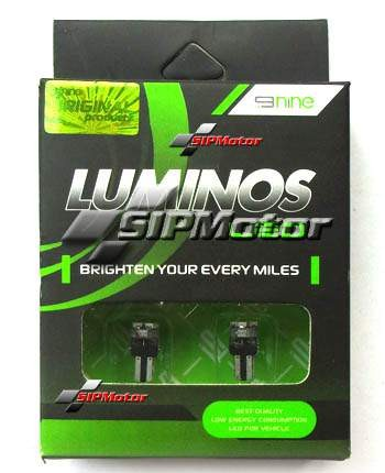 Foto Produk LED T5 3 Titik Hijau Luminos / 9Nine (Speedometer/Panel AC) dari SIPMotor