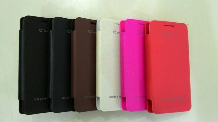 Jual Flip Cover Smartfren Andromax C3si Silver Phone Tokopedia