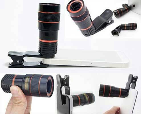 harga Telezoom lens clip lensa jepit 8 x zoom optical mobile phone telescope Tokopedia.com