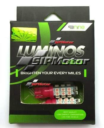 Foto Produk Lampu LED T10 28 Titik Ungu Merk Luminos / 9Nine dari SIPMotor
