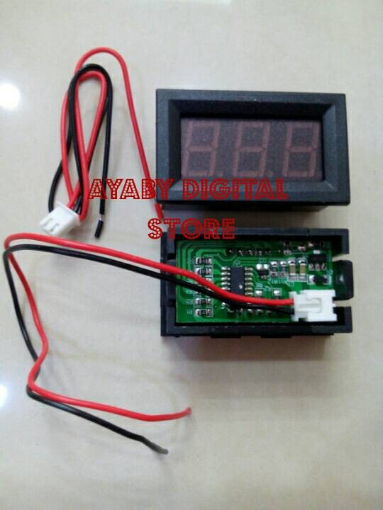 harga Voltmeter digital led merah 4,5-30vdc utk variasi mobil & power supply Tokopedia.com