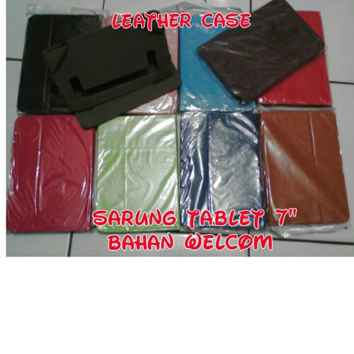 harga Leather case/sarung tablet universal  polos 7 inch Tokopedia.com