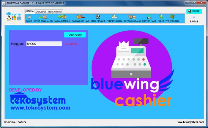 Foto Produk Bluewing Cashier Software Kasir Untuk Windows , Linux , Macintosh dari tekosystem