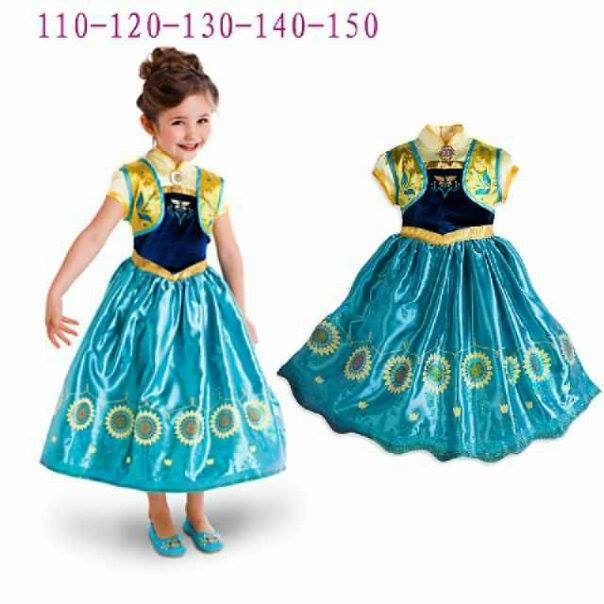 harga Gaun anna frozen sparkling - baju anak import branded pakaian dress  Tokopedia.com b73664468a