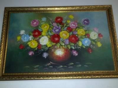 harga Lukisan bunga termasuk bingkai Tokopedia.com