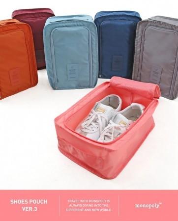 Tas Sepatu Sandal Travel Bag Organizer / Monopoly Shoes Pouch