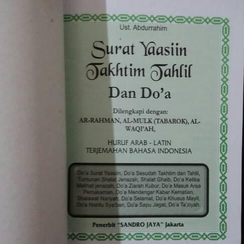 Jual Buku Doa Dan Surat Yasin Dki Jakarta Hero Stationery Tokopedia