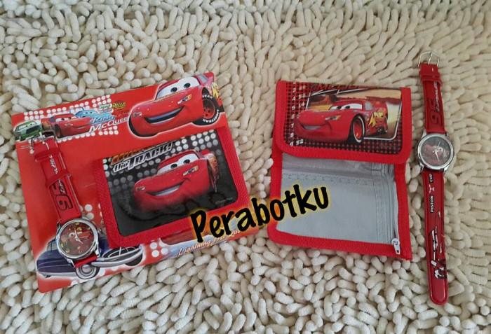 Jual Jam Tangan Anak dan Dompet Karakter CARS Lightning MCQueen ... 9eef76d1af