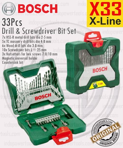 harga Mata bor & obeng set / drill & screwdriver bit set x33 x-line bosch Tokopedia.com