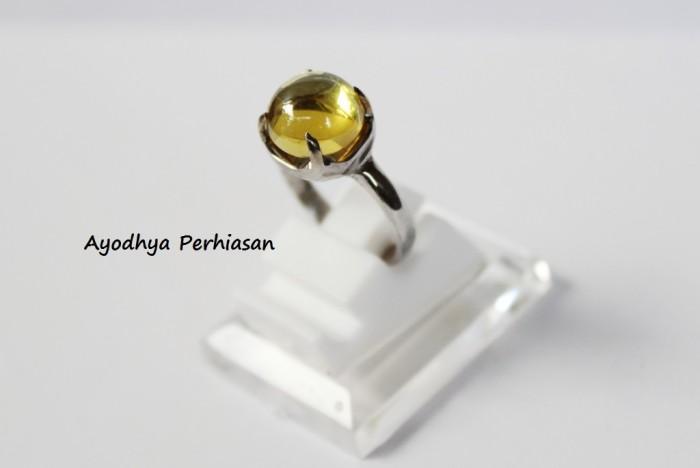 harga Cincin akik bau diamond polos kuning - cincin batu wanita Tokopedia.com
